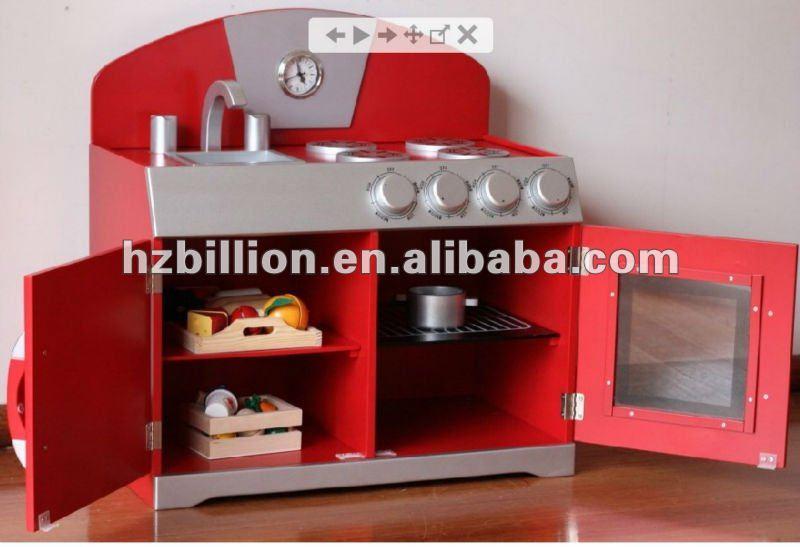 Juego de cocina juguetes para niños de madera mueblesMuebles Juguete