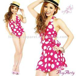 2013 Polka dot new ladies fashion lycra white sexy bikini