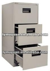 knock down three drawer file office furniture ,knock down steel file locker