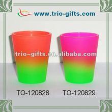Decorative rainbow shot glass