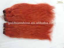 Pretty natural straight peruvian orange virgin human hair weft