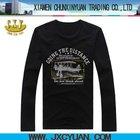 bulk long sleeve men printing t shirts for importing