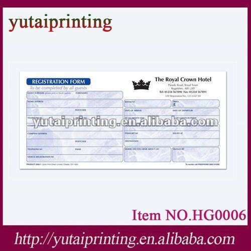 Hotel Guest Registration Form Hotel Guest Registration Form