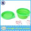 Food Grade Non-toxic Silicone Portable Folding Dog Bowls