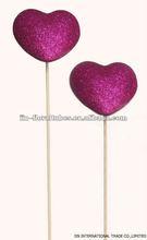 valentine heart sticks for flower deco