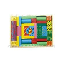 2012 Childhood Building Block Color Wooden Pattern Blocks Toy