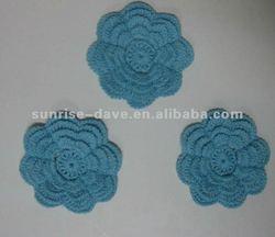 2012 Fashion crochet flower applique