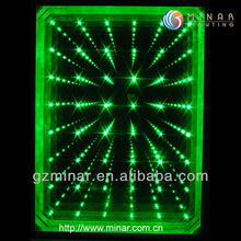 3D effect mirror,fiber optic lights