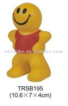 PU stress reliever smile man/man shape squeeze toy/PU stress man