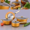2013 latest 7PCS Aluminum Ceramic cookware set