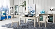 Modern white wooden dining room furniture