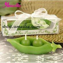A07147 Green Color Pea Design Wholesale Wedding Candle Decoration