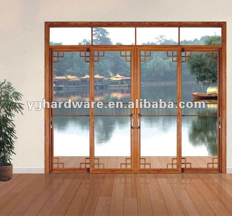 Marco de aluminio de vidrio de la puerta-Puertas -Identificaciu00f3n del ...