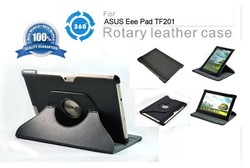 for ASUS Eee Pad Transformer TF201 leather case 360 rotary