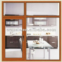 Casement window combined with fixed window