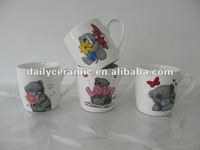 ceramic cup with crystal and bear design