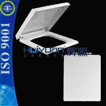 UF material soft close toilet seat square duroplastic