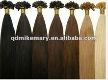 Remy Human Keratin U Tip Hair Extensions, Chinese/India/Brazilian/Malaysian/Mongolian/European Hair