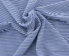 Superb Blue And White Stripe Printed High End Mesh Fabric