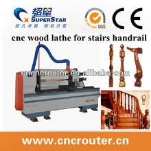 2 legno mandrini tornio cnc per scale corrimano