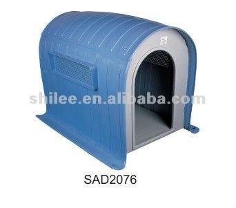 Weatherproof plastic outdoor dog kennel