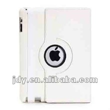 For ipad case with 360 degrees white rotatable smart cover stand white