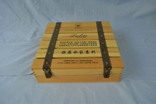 wooden wine case/box for grape wine