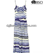 printed maxi dress and fashion frock design 2013