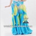 venta al por mayor de imitación de seda de gasa faldas danza