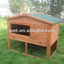 Large 4FT Outdoor Double Decker Wooden Hamster Cage with Plastic tray