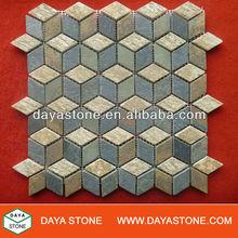 Diamond stone mosaic art building material