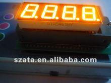 High brightness! orange color 4 digits 7 segment led number sign