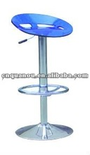 High Quality Casino Pub Acrylic Chair Clear Blue Bar Stools QO-127