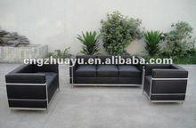 Hot Sales Black Leather Sofa Set HY-C004