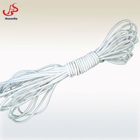 White polyester rubber elastic rope