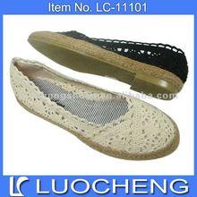 low heel girl shoe fabric upper meshed