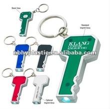 HY1292 Promotional Plastic LED Light Keychain