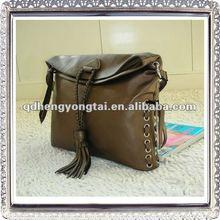 Leather designer hand bag unique shape