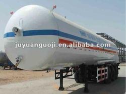 Tanker semi trailer for flammble liquid asphalt