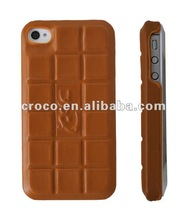 2012 CROCO chocolae style leather phone case