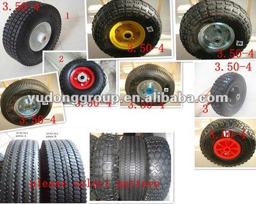 10 polegada petite pneuamtic roue / pneu 4.10 / 3.50 - 4 pour chariot, Tondeuse à gazon