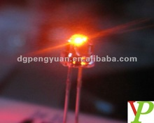 amber 4.8mm straw hat led diode