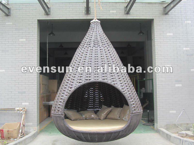 Outdoor Dusche Rattan : Outdoor Hanging Wicker Bed