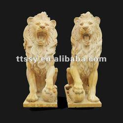Stone garden decoration lion statue