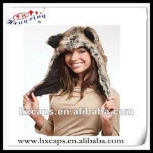 Fluffy animal hat/fashion winter caps