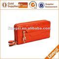 abastecer a china de carteira de couro zíper bolsa para a senhora