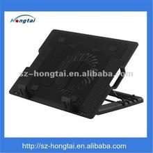 Adjustable angle laptop cooler pad