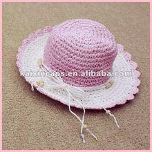 Children Paper Straw Hat with decoration