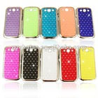 rhinestone chrome cover case for samsung galaxy s3 factory price case
