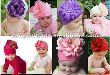 fashion hot sell new style wholesale top baby flower cotton hat